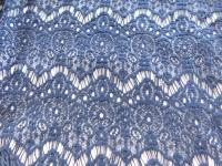 donker blauw  kant katoen 049
