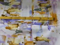satijn katoen oker/lila print 057
