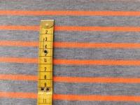 streep tricot grijs oranje 058