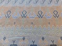 breisel streep lichtblauw/ taupe 154