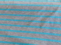 streep tricot grijs/ turqoise 160