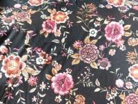 225 viscose bloem zwart